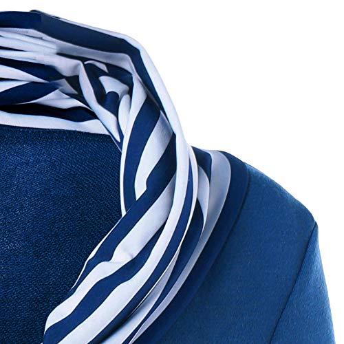 Pulsante Mambain Da Stile A Felpe Lungo Eleganti Con XH9 Blu Donna Righe q7w1Swn8