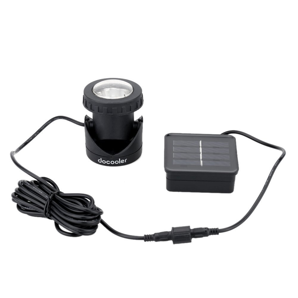 Outdoor Solar Powered LED Spotlight Lamp 6 LEDs Waterproof Available ...