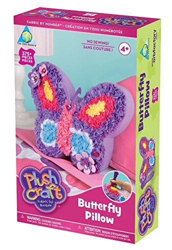 The Orb Factory 65041 Limited Plush Craft Butterfly Pillow