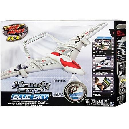 Air Hogs Radio-Controlled Hawk Eye Blue Sky Plane, (Blue Toys Radio Controlled Planes)