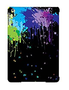Ideal Gift - Tpu Shockproof/dirt-proof Pain Splashes And Butterflies Cover Case For Ipad(air) With Design