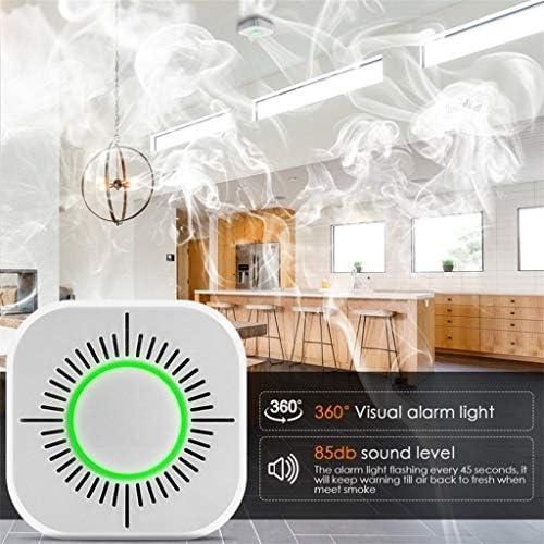 3 in 1 Smoke Detector Sound Light & Sound Alarm Wireless 433