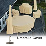 Feileng Umbrella Cover, Protective Waterproof Universal Standing Cantilever parasols – Weatherproof Cover, Umbrella Cover Weatherproof for Garden Outdoor Stunning