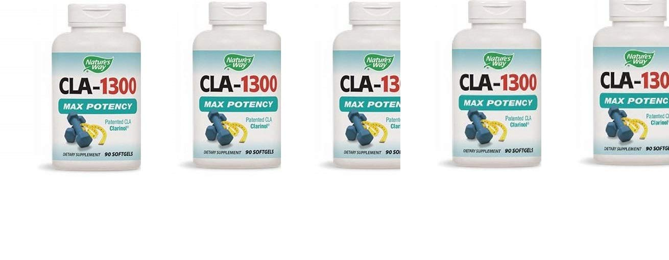Nature's Way CLA 1300 mg 90 Softgels (5 Pack)