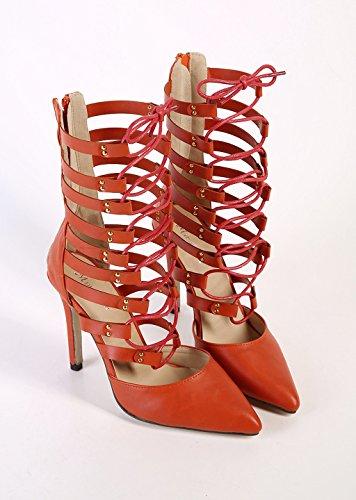 High Wedding Toe Stylish Red Sandals Evening Doris Boots Pointed Women's Fashion Heels nXHYxpTp