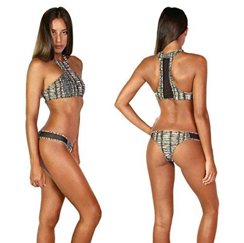 Anboo Popular Women printing Backless Frenum Bikini Beach (X-Large)