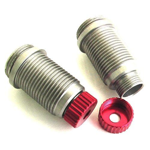 Body Aluminum Shock (Hot Racing VXS15502 Aluminum Hard Anodized Shock Body (Red) - Traxxas 1/16)
