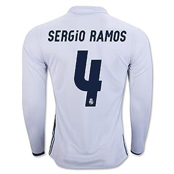2a968d0d Real Madrid CF 4 Sergio Ramos Home Football Soccer Long sleeves Jersey New  Season 2016 2017