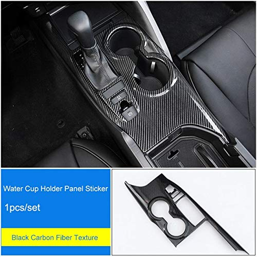 Water Cup Panel ABS Armresr Box Cover Center Console Copilot Dashboard Trim Stickers Steering Wheel Sticker Accessory for Toyota Camry 2018  (color Name  Ordinary Window)
