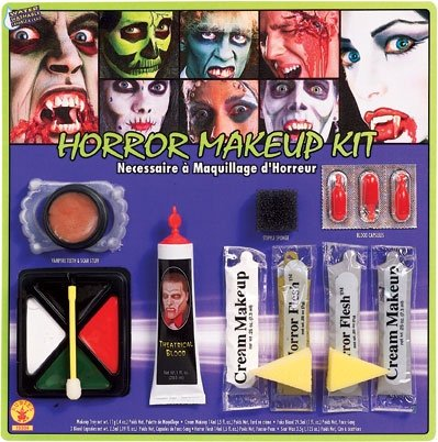 Rubie's Costume Horror Makeup Kit, White/Multi, One Size (Halloween Scary Teeth)