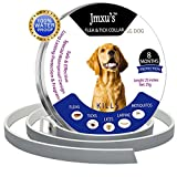 Dog Flea Treatment Collar - Flea Collar for Dogs - Flea and Tick Prevention Collar for Large Dog and Puppy - Safe and Hypoallergenic - Waterproof Dog Anti Flea Collar - 8 Months Protection - 25in One Size Fits All Gogs