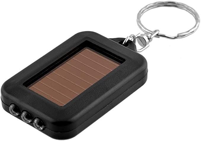 Llavero Recargable con Panel Placa Solar con Linterna - 3 LED ...