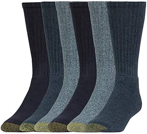 Gold Toe Men's Harrington Crew Socks, 6 Pairs