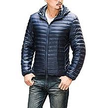 CHERRY CHICK Men's Light Weight Puffer Down Jacket with Hood