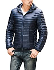 CHERRY CHICK Men's Light Weight Puffer Down Jacket with Hood