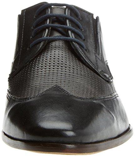 Bugatti Herren 311419021011 Derbys Schwarz (Black/ Grey)