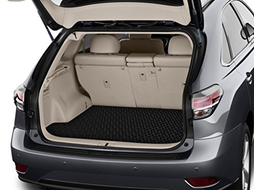 - ToughPRO Cargo/Trunk Mat Compatible with Lexus RX330 - All Weather - Heavy Duty - (Made in USA) - Black Rubber - 2004, 2005, 2006