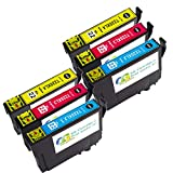 Colour-Store Remanufactured for epson 220 220XL Ink Cartridge, High Capacity, 6 Multipack for Epson WorkForce WF-2760 WF-2750 WF-2630 WF-2650 WF-2660 XP-420 XP-424 Printer (6C)