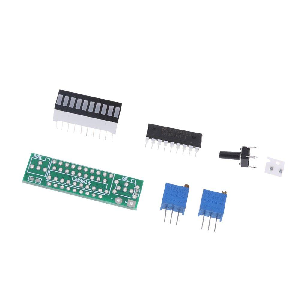 Baoblaze DIY LM3914 power indicator 3.6v-18v battery 4.2v lithium battery power level led indicator display panel Green 1e573fcc0327d9669baf6e2b3ceda149