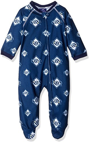 be80839be Outerstuff MLB Infant Rays Sleepwear All Over Print Zip Up Coverall ...