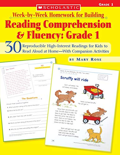 Week-by-Week Homework for Building Reading Comprehension & Fluency: Grade 1 (Week-by-Week Homework For Building Reading Comprehension and Fluency) ()