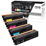 GPC Image 4 Pack Remanufactured Toner Cartridge Replacement for Brother TN336 TN315 TN310 TN331 High Yield Toner Cartridge for Brother HL-L8350CDW HL-L8350CDWT HL-4150CDN MFC-L8850CDW MFC-9970CDW