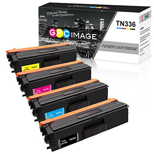 GPC Image 4 Pack Remanufactured Toner Cartridge Replacement for Brother TN336 TN315 TN310 TN331 High Yield Toner Cartridge for Brother HL-L8350CDW HL-L8350CDWT HL-4150CDN MFC-L8850CDW MFC-9970CDW by GPC Image