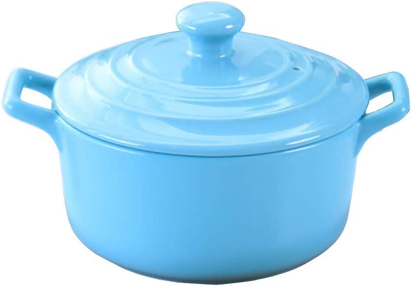 Ceramics Round Casserole Dish – Fuente para horno con tapa, sopa ...