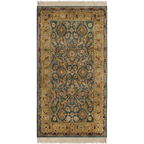 Safavieh Dynasty Collection DY319A Hand-Knotted Blue and Apricot Premium Wool Area Rug (9' x 12') ()