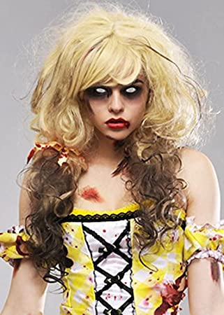 Magic Box Mujer Rubia Peluca de Ricitos de Oro de Zombie