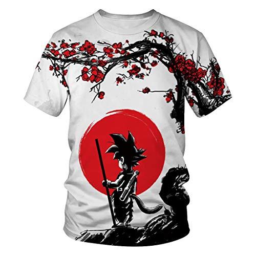 CHENMA Men Dragon Ball 3D Print Short Sleeve Pullover Regular Fit T-Shirt (Color 14, S) ()