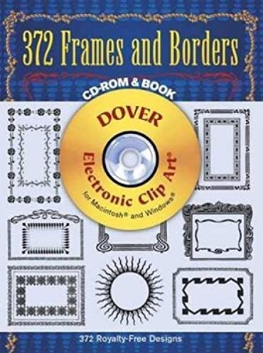 372 frames and borders dover electronic clip art cd rom and book rh amazon com dover clip art download dover clip art silhouettes