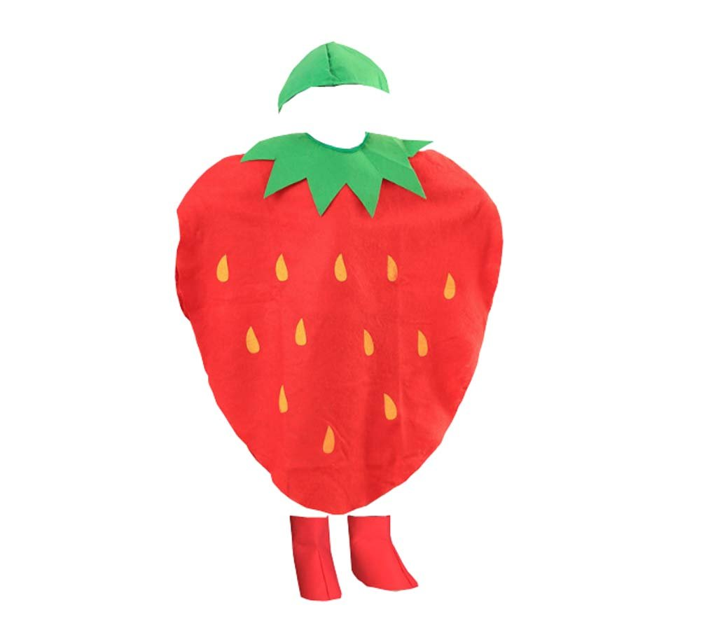 Fruit Clothing Kinder-Performance-Kleidung Modenschau, Erdbeere Black Temptation