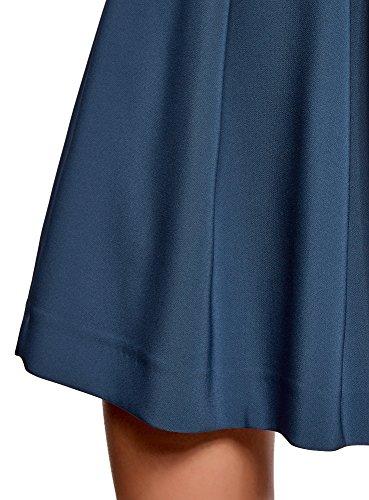 Plis oodji 7400n Ultra Inverss Jupe Femme vase Bleu wrTI0rqn