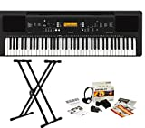 Yamaha PRSEW300 76 Key Portable Keyboard With Knox Adjustable Stand & Power Adapter