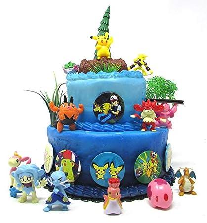 Amazon.com: Pikachu - Juego de 18 decoraciones para tartas ...