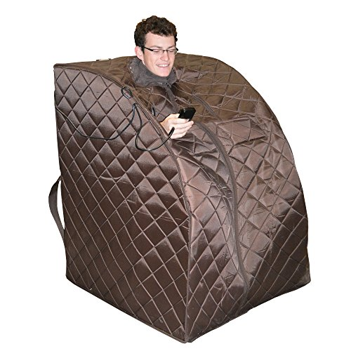 Radiant Saunas BSA6315 Harmony Deluxe Oversized Portable Sauna, Dark Brown