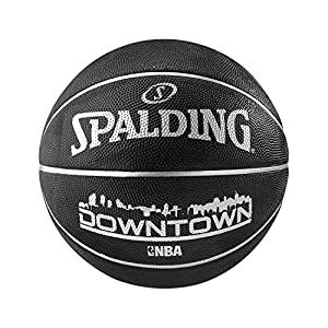 Spalding Ball NBA Downtown Outdoor, Schwarz, 7, 3001506010017