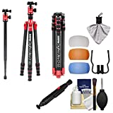 Sunpak 63'' Digipro Ultra CF 63 Carbon Fiber Monopod/Tripod with Ball Head & Case with Filter Diffusers + Cleaning Kit