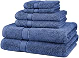 Pinzon Blended Egyptian Cotton 6-Piece Towel Set, Wedgewood