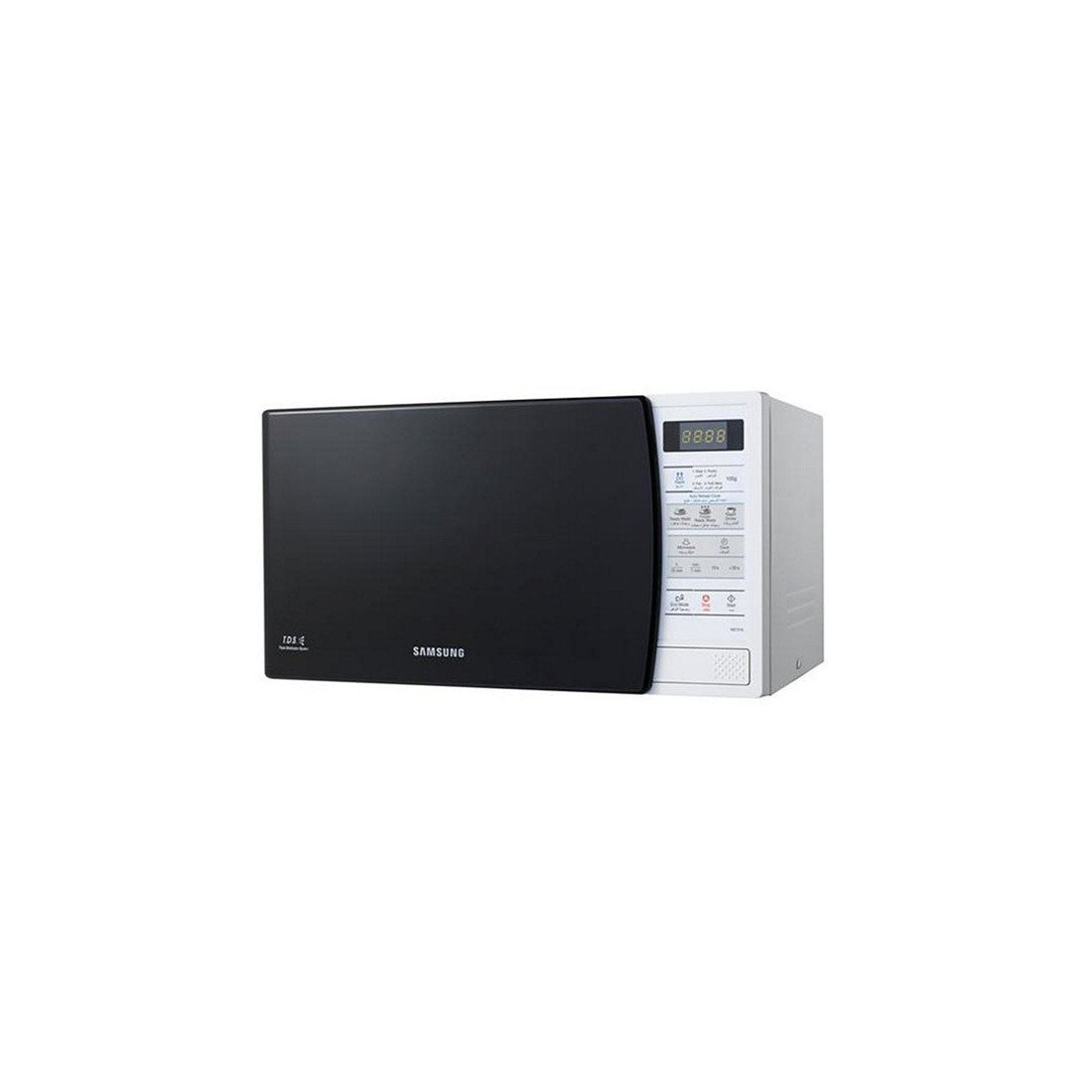 Samsung Me731K/Xec Microondas sin grill de 20 L, interior de cerámica y display, 800 W, 20 litros, Negro y blanco