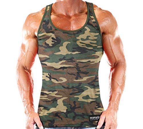 Workout Clothes Tank Top Green Camo