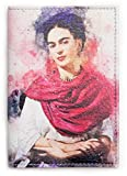 HMP Passport Cover For Man And Woman - Eco Leather Passport Holder - Passpot Wallet (Frida Kahlo)