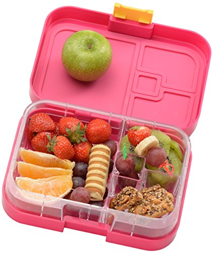 WonderEsque Bento Lunch Box - LeakProof Lunch Container - For Kids and Adults (PINK)