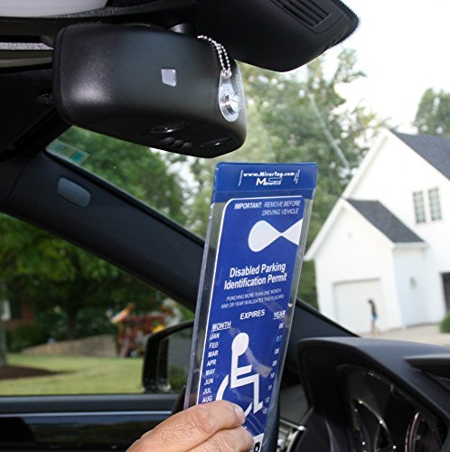 (MirorTag Charm by JL Safety- A Novel Way to Protect, Display & Put Away a Handicapped Parking Placard. This Handicap Placard Holder comes with a detachable strong Magnet Charm that will never melt or bend or break in the sun. MAGNETICALLY snap On & Off your placard to a Magnet Charm you mount behind your rearview mirror once. Full protection, and ON and OFF in a snap. Maximum Tag size is 4.125