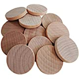 AxeSickle 1 inches Natural Schima superba unfinished round wood,These round wood coins The limitations are endless!(50-pcs)