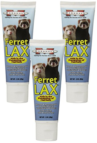 ((3 Pack) Marshall Pet Products Ferret Lax Hairball and Obstruction Remedy 3-Ounces each)