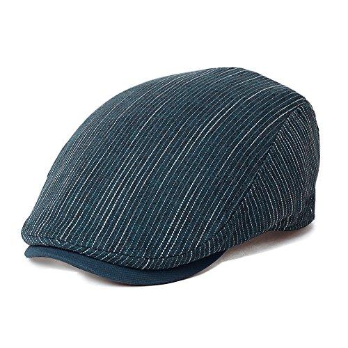 Fashion Mens Flat Cap Golf Hat Classic Newsboy Irish Gatsby British Driver Caps Blue One Size Siggi (Summer Drivers Caps)