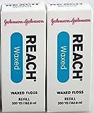 J&J Floss Refill 200 Yd. - Waxed (6 Pack)