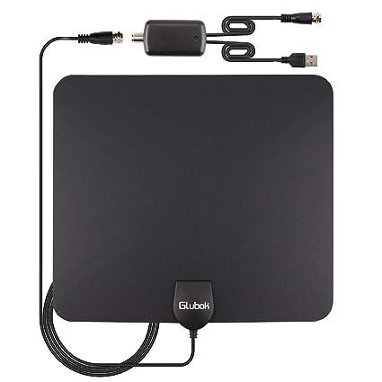 Amazon.com: Glubok Antena de TV amplificada para interiores ...